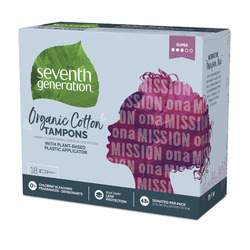 Seventh Generation Organic Cotton Tampons, Super absorbency