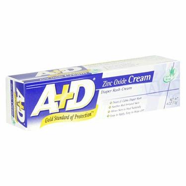 A+D Diaper Rash Cream, Zinc Oxide Cream, 4 oz (113 g) (Pack of 4)