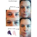 Emerald Cove Gua Sha scraper and Facial Roller set - Amethyst