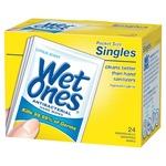Wet Ones Antibacterial Hand Wipes Singles, Citrus Scent