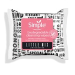 Simple makeup removal wipes