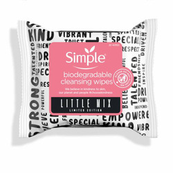 Simple Biodegradable Cleansing Wipes Little Mix Edition
