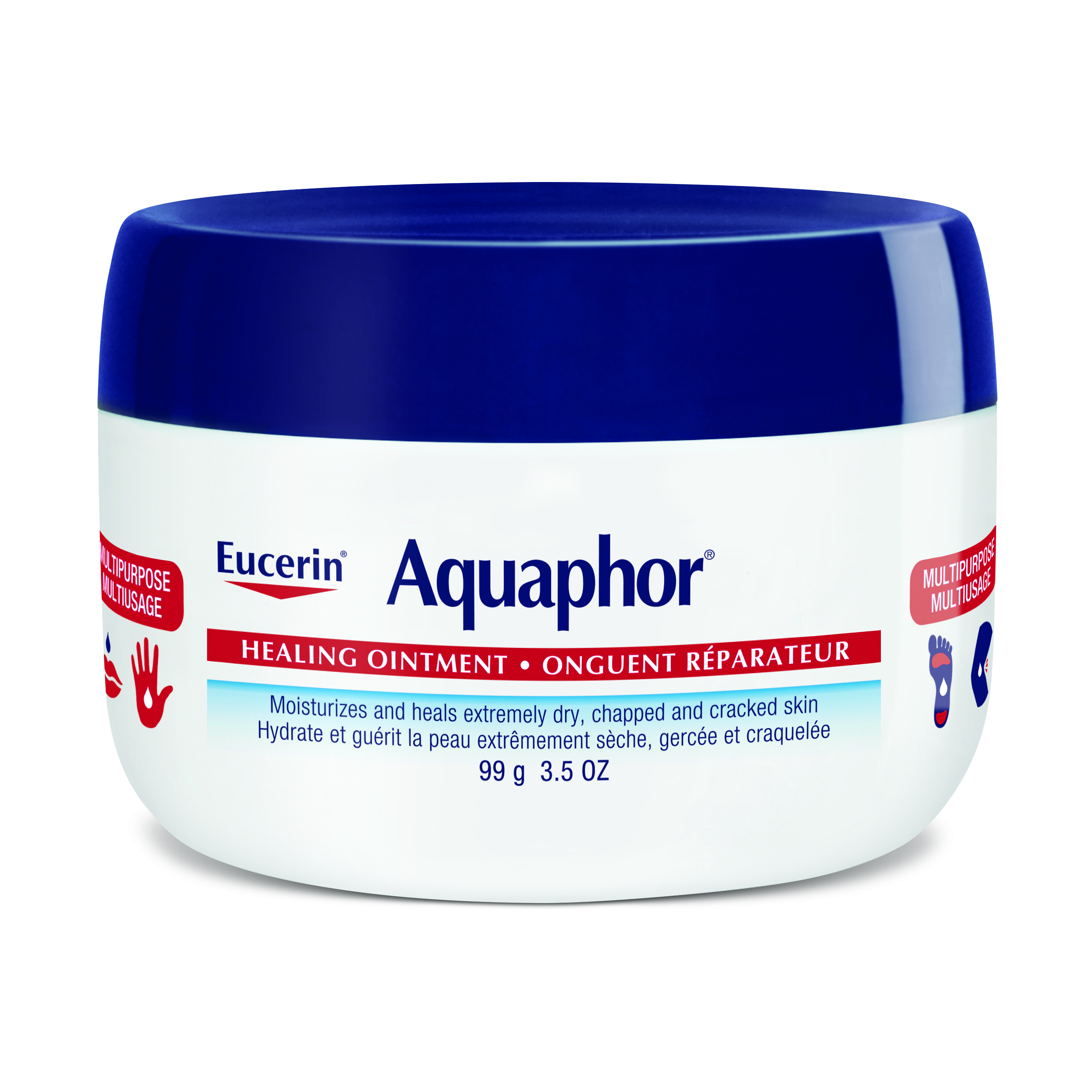 Aquaphor healing ointment on face