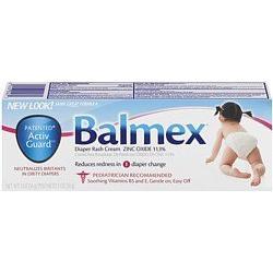 Balmex Zinc Oxide Diaper Rash Cream 2 oz.