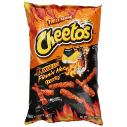 Cheetos crunchy xxtra flamin hot cheese flavored snacks