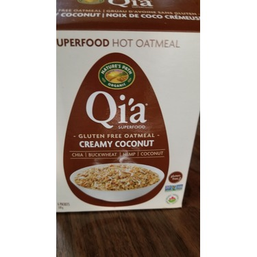 Qi'a Superfood Gluten Free Oatmeal - creamy coconut
