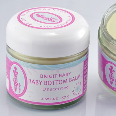 Brigit True Organics- Baby Bottom Balm, 2.0 oz. (95% ORGANIC)