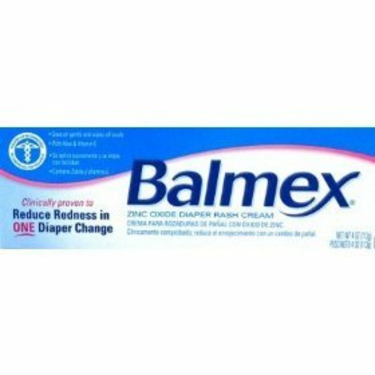 Balmex Diaper Rash Cream with Zinc Oxeie  & Vitamin E, 4 Oz/ 2 Pack