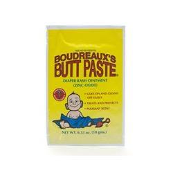 Boudreaux's Butt Paste, Diaper Rash Ointment, Foil Packet .33 oz (10 g)
