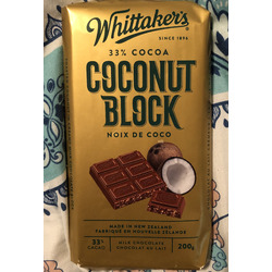 Whittaker's 33% cacao Coconut Block