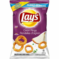 Lays onion ring flavoured chip's