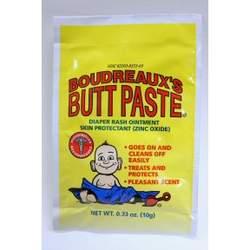 Boudreaux's Butt Paste, Diaper Rash Ointment, Foil Packet .33 oz (10 g) (box of 50)