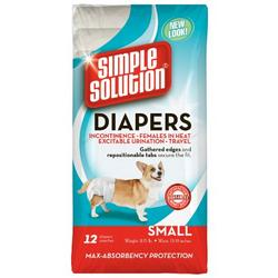 Simple Solution Disposable Diapers, Small, 12-Count
