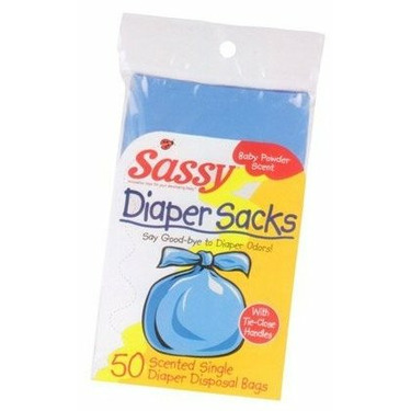 Sassy Disposable Diaper Sacks - 50 Count