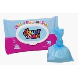 Diaper Mate Disposable Diaper Bags - 75 per Bag