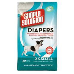 Simple Solution Disposable Diapers, XX-Small 12-Count