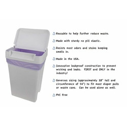 Planet Wise Diaper Pail Liner (White)