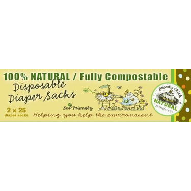 Broody Chick Disposable Diaper Sacks (100% Natural / Fully Compostable, 50-Count)