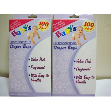 100 PACK Diaper Disposal Bags (Scented to Neutralized Odors)