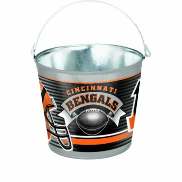 NFL Cincinnati Bengals 5-Quart Galvanized Pail