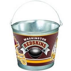 NFL Washington Redskins 5-Quart Galvanized Pail