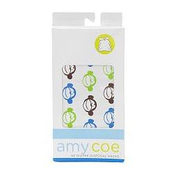 amy coe 50 Count Disposable Diaper Sacks - Monkey