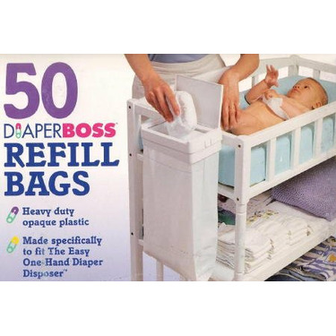 Diaperboss Disosable Diaper Refill Bags 50ct By Infantino