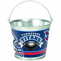 NFL Tennessee Titans 5-Quart Galvanized Pail