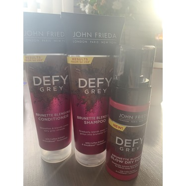 John Frieda Defy Grey Brunette Blending Blow Dry Foam