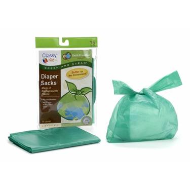Classy Kid Keep Me Tidy Biodegradable Diaper Sack - Pack of 75