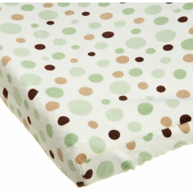 Carters Super Soft Printed Changing Pad Cover, Green Dot