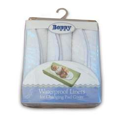 Boppy Changing Pad Liners 3-Pack - White