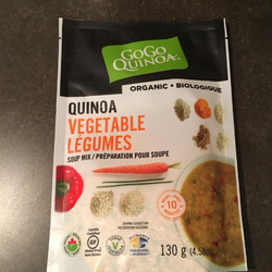 Gogo quinoa vegetables soup mix