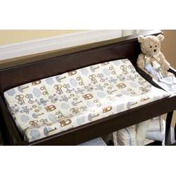 Kids Line Velour Changing Pad Cover, Mosaic Transport