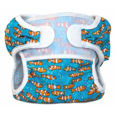 Bummis Swimmi Cloth Diapers, Clown Fish, Large (22-30 lbs)