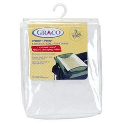 Graco Changing Table Pad Covers, 2 Pack, White
