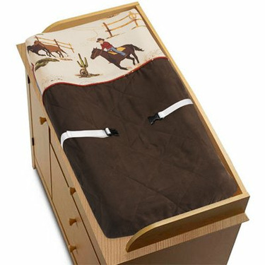 Wild West Cowboy Western Horse Baby Boys Changing Pad Cover by JoJo Designs