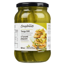 compliments tangy dill sandwich sliced pickles