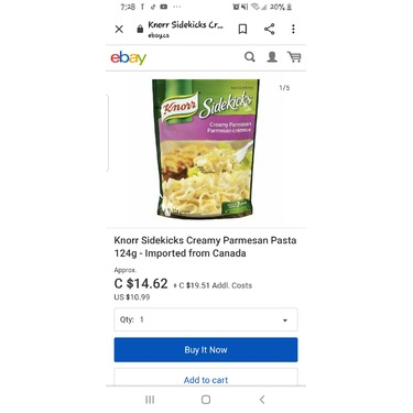 Knoor sidekicks : creamy  parmesan