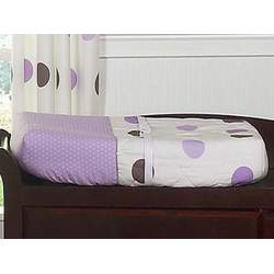 Purple and Brown Mod Dots Changing Pad Cover by JoJo Designs