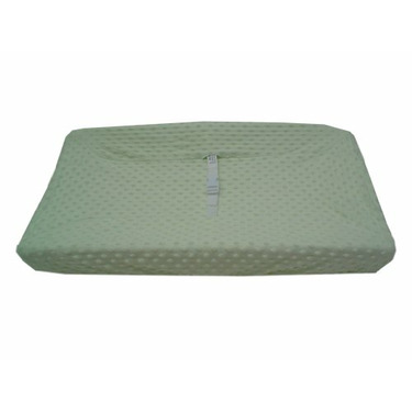 American Baby Company Heavenly Soft Minky Dot Changing Table Cover, Celery Puff