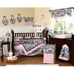 Pink and Black Sophia Baby Girls Changing Pad Cover by JoJo Designs
