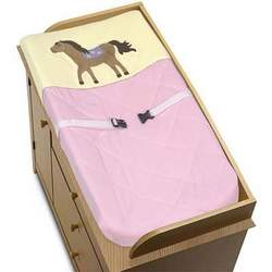 Pretty Pony Horse Baby Girls Changing Pad Cover by JoJo Designs