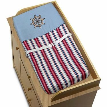 Nautical Nights Sailboat Boys Changing Pad Cover