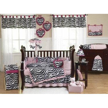 Pink, Black & White Funky Zebra Changing Pad Cover by JoJo Designs