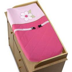 Pink and Green Flower Collection Changing Pad Cover