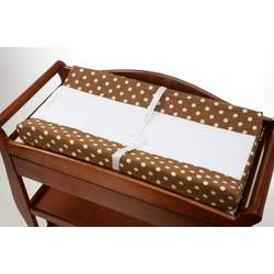 Nojo 2 Pack Contoured Changing Pad Covers - Brown w/Ivory Dots
