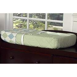 Blue and Green Argyle Changing Pad Cover by JoJo Designs