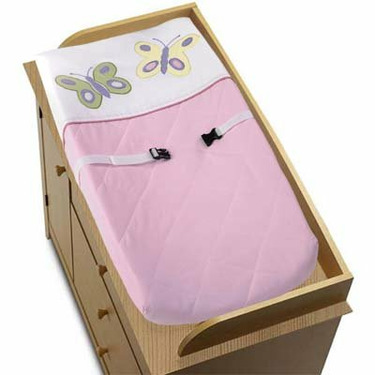 Pink and Purple Butterfly Collection Changing Pad Cover