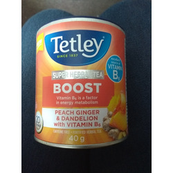 Tetley Boost Peach Ginger & Dandelion with Vitamin B6